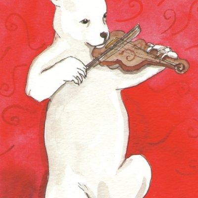 fiddling bear