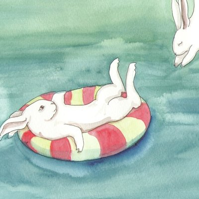 Swimming rabbits