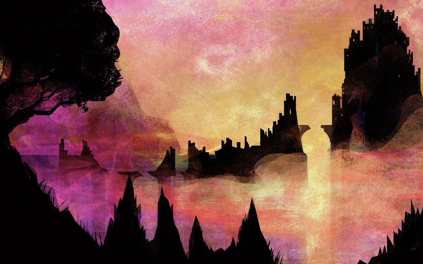 - adventure, castle, clouds, landscape, magic, magical, mist