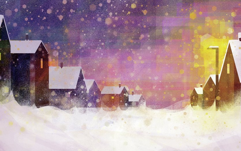 - christmas, evening, frozen, magic, night, peace, peaceful