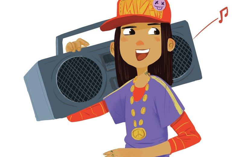 - boombox, cap, fun, girl, hip, hop, music