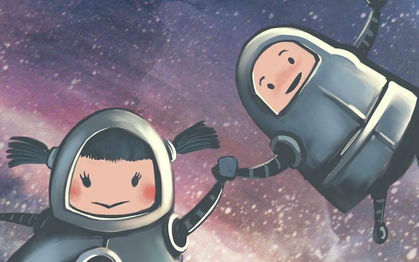 - friend, robots, space