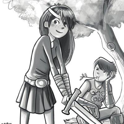 A girl, a sword