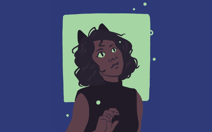- cat, firefly, girl, glow, night