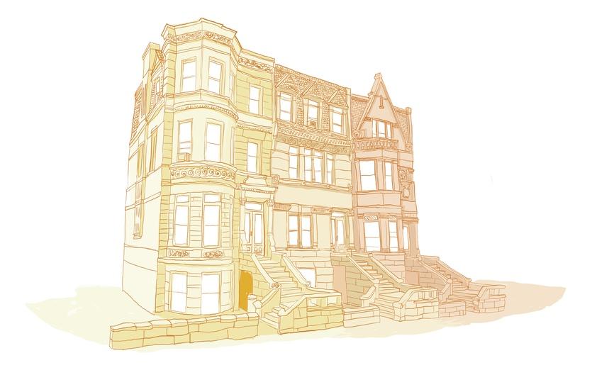 - adorable, apartments, art, bricks, bright, brown, building