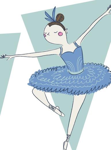 ballerina blue