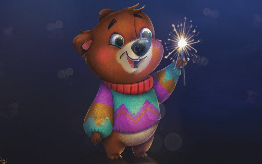 - animal, bear, christmas, cute, new, xmas, year