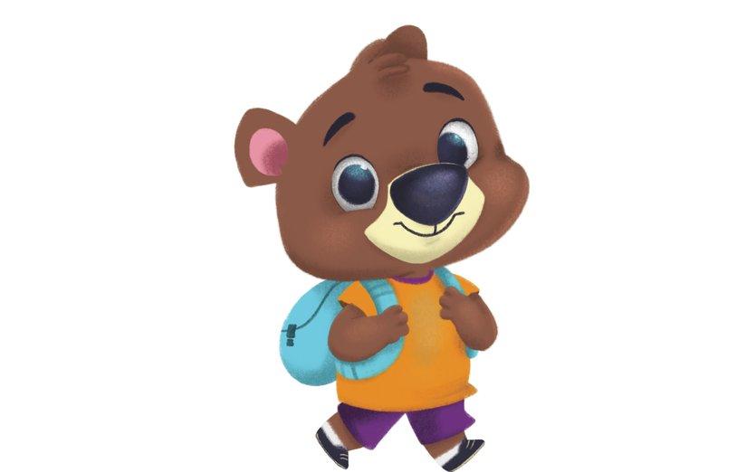 - animal, bear, chidren, cub, little, school