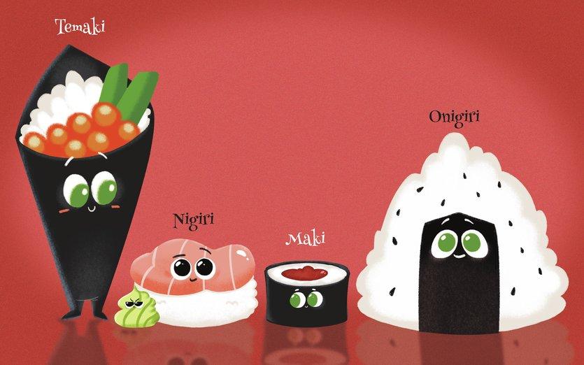 - cute, giappone, kawaii, maki, nigiri, nihon, onigiri