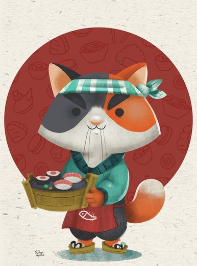 Jiro the sushi cat