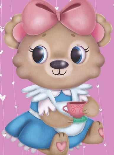 Pinky Alice bear