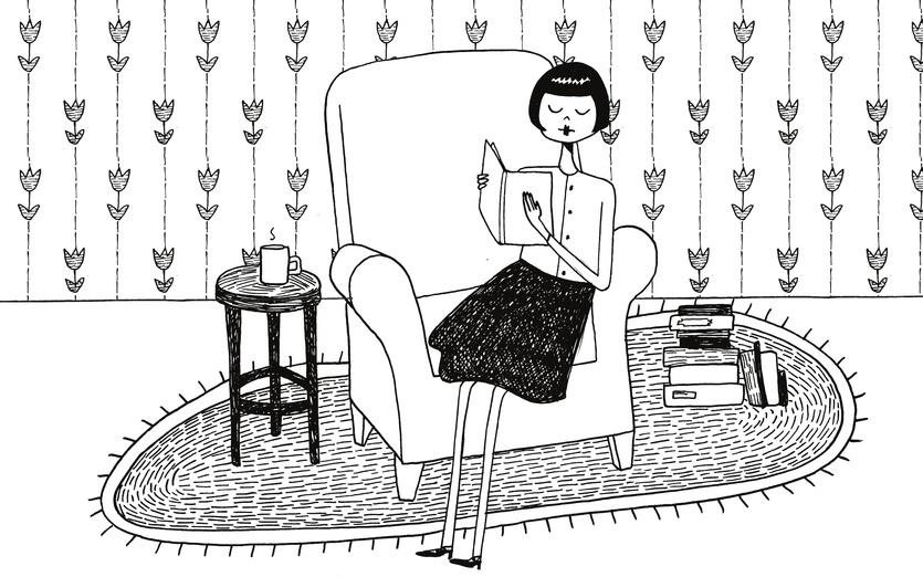 - and, artwork, athome, black, book, books, brunette