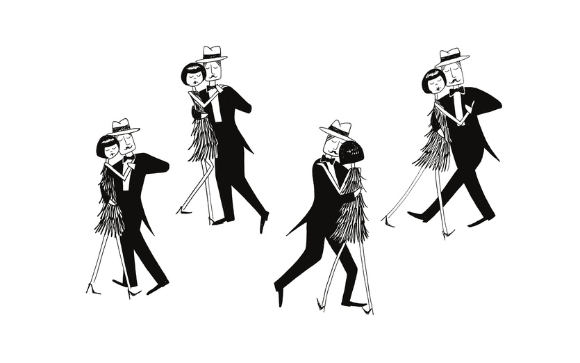 - black, characters, closedeyes, couple, dance, dancing, digitalart