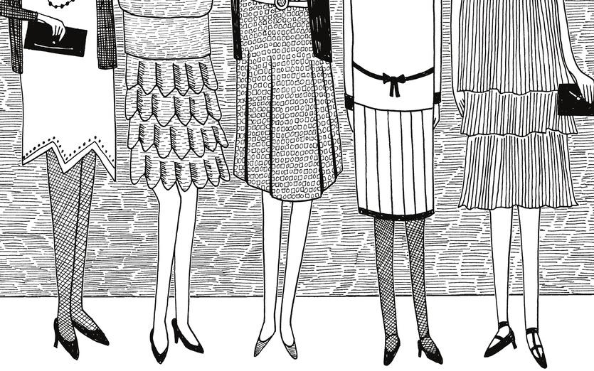- artwork, black, brunette, cartoon, cartoony, dresses, elegant