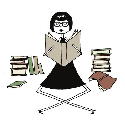 bookworm with glasses