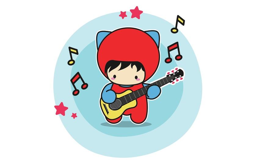 - adorable, black, blue, brightcolored, brightcolors, cartoon, cartoony