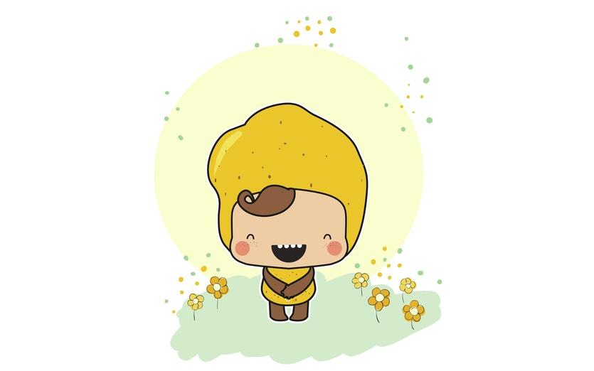 - adorable, baby, brightcolored, brightcolors, brown, cartoon, cartoony