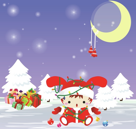 - adorable, brightcolored, brightcolors, cartoon, cartoony, character, christmas