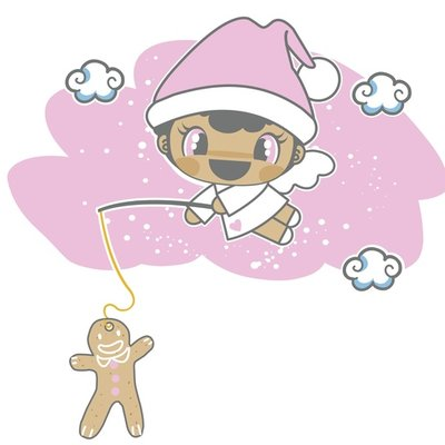 Christmas Angel with Gingerbread
