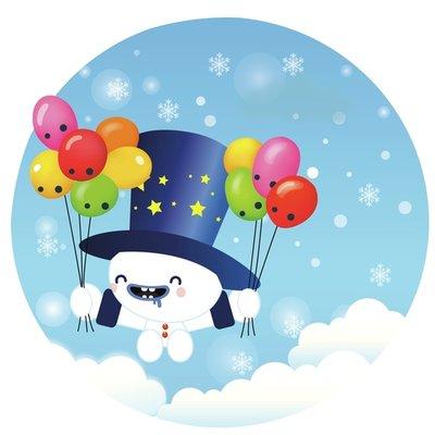 Flying Snowman!