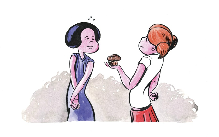 - adorable, blue, cake, cartoon, cartoony, characters, colored