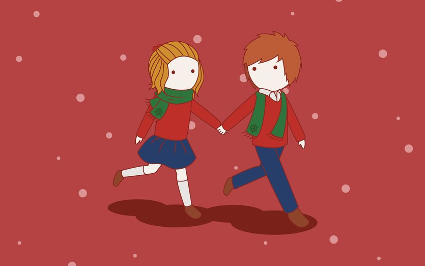 If you'd like to create a Christmas themed story early, this one's for you. - boy, christmas, cold, couple, cute, december, girl