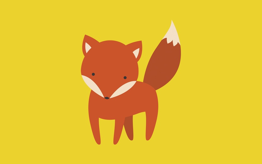 An illustration of a fox  Make sure to follow me on instagram @imaginarypaperboat  - adorable, adorbs, animal, art, bright, brown, cartoon