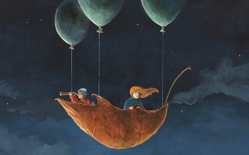 - adventure, air, airship, balloons, blue, boy, children