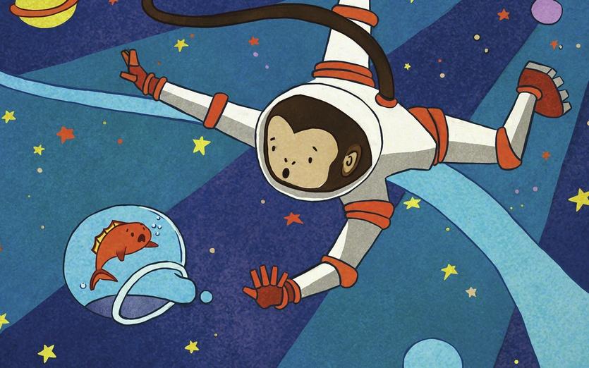 - adeventure, adorable, animals, astronaut, blue, brightcolored, brightcolors