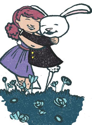 - dress, flowers, forever, friends, girl, hug, purple