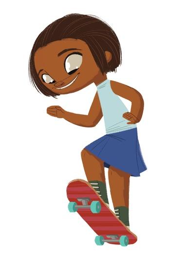 Skater Girl from Africa