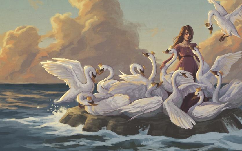 - animals, beautiful, bird, blue, castle, clouds, colored