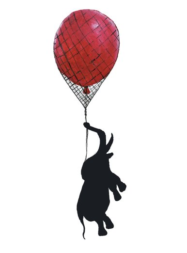 Elephant Hanging On (Red Balloon)