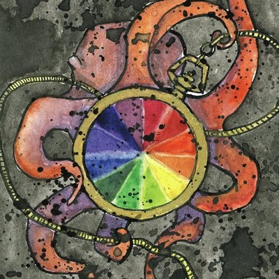Octopus Carries a Color Wheel Watch