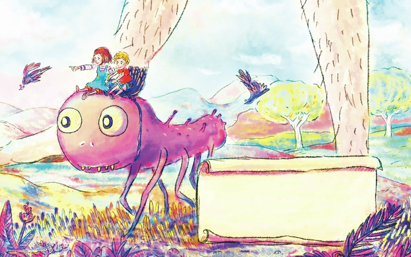 artwork for a composer free for download here - http://www.composerhome.com/piano/ - adorable, alien, blue, cartoon, cartoony, children, class