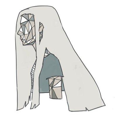 三角形の女の子