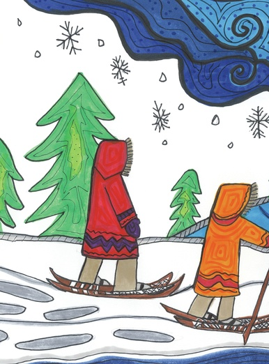 Two snowshoers