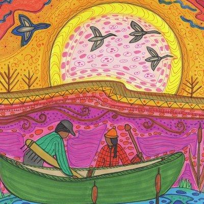 Loading canoe