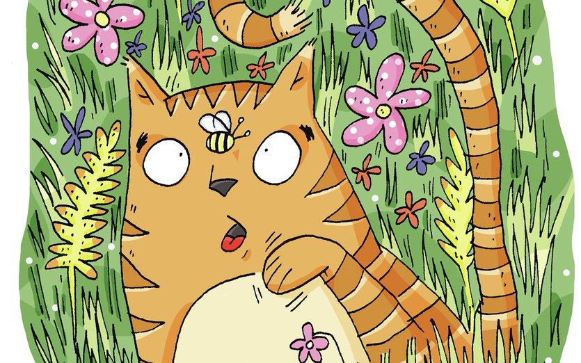 - animal, bee, cat, cute, flowers, nature