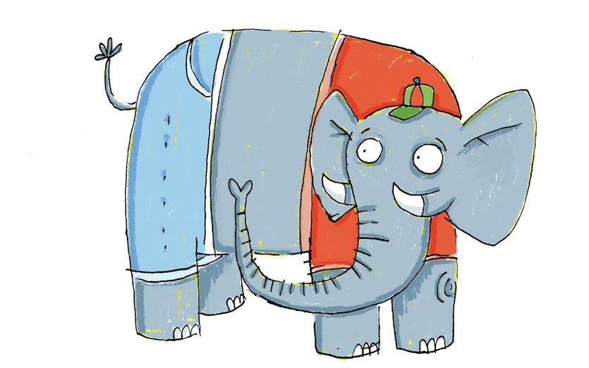 - animal, character, elephant