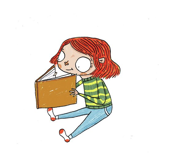 - books, character, child, girl, read, reading