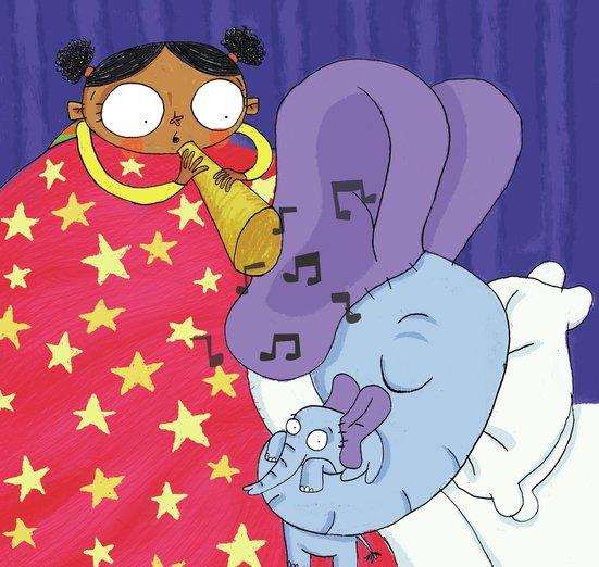 - bed, elephant, lullaby, night, singing, sleep, time