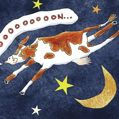 Cow flew over the Moon