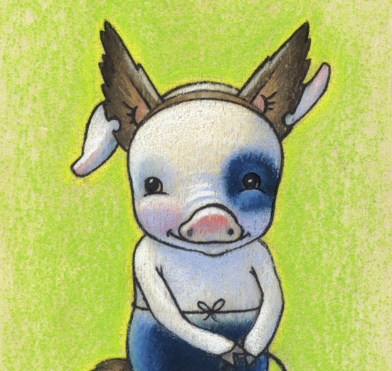 - adorable, animal, blue, brown, character, colored, colorful