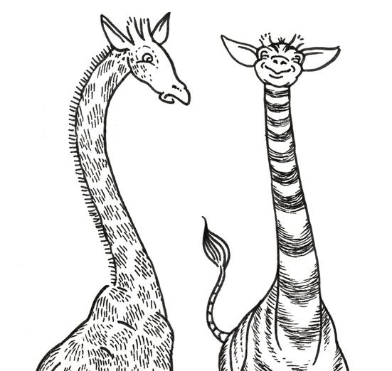 - animals, black, cartoon, cartoony, funny, giraffe, happy