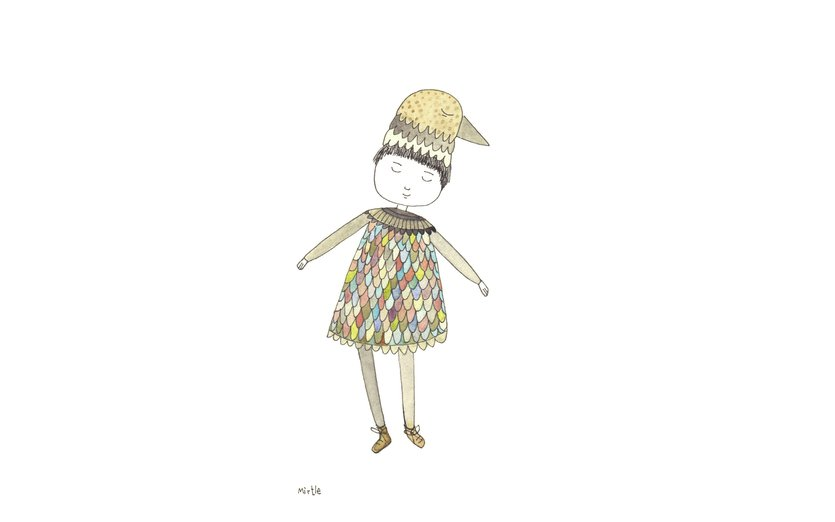 - adorable, art, balancing, beige, bird, birdgirl, cap