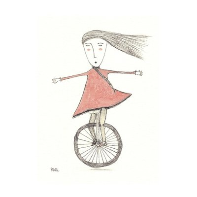 girl on a unicycle