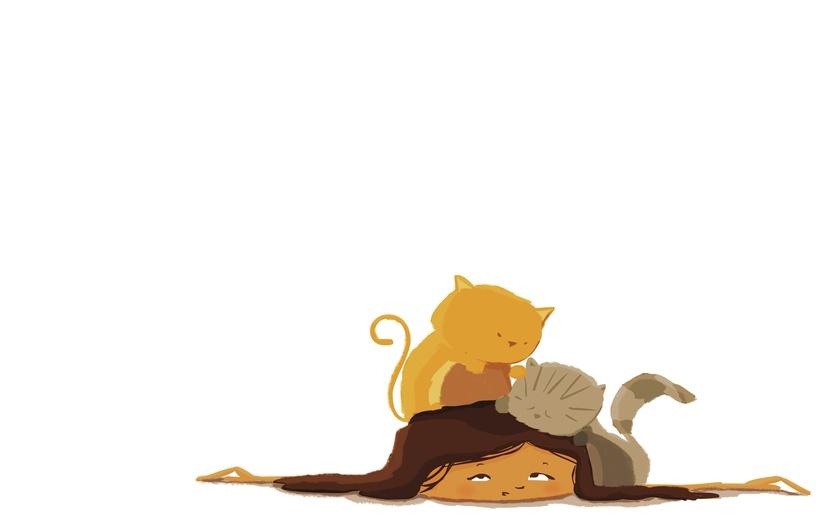 - attack, cat, cats, cute, girl, home, kitten
