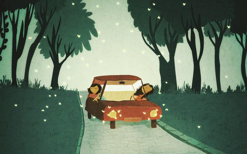 - adorable, blue, brightcolored, brightcolors, car, cartoon, cartoony