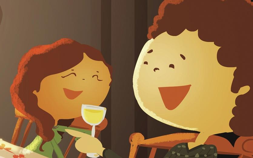 - boy, couple, cute, dinner, eating, food, girl